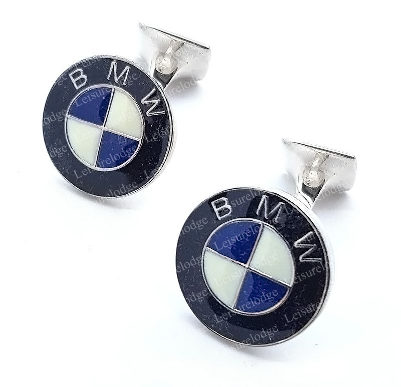 BMW Motor Car Cufflinks  925 Sterling Silver Hand Made in Britain