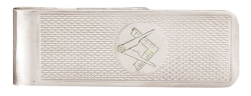 Masons Sterling Silver Square & Compass Money Clip