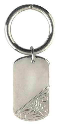 Hand Engraved 925 Solid Sterling Silver Keyring by Francis Hamilton