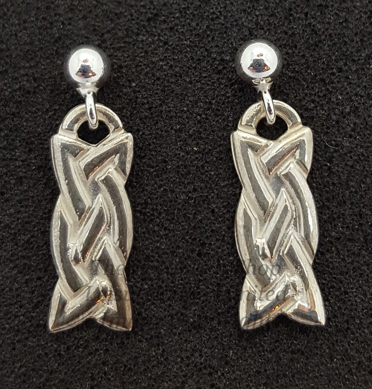 Ladies Celtic Eternal Knot Drop Earrings 925 Sterling Silver
