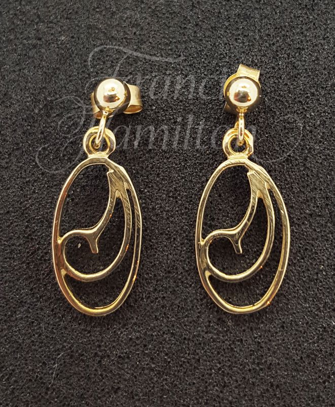Ladies Teardrop Earrings 9ct Gold - Fine Quality - Francis Hamilton England