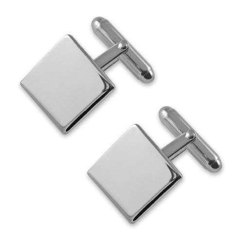 Mens Square Sterling Silver Cufflinks Made in England