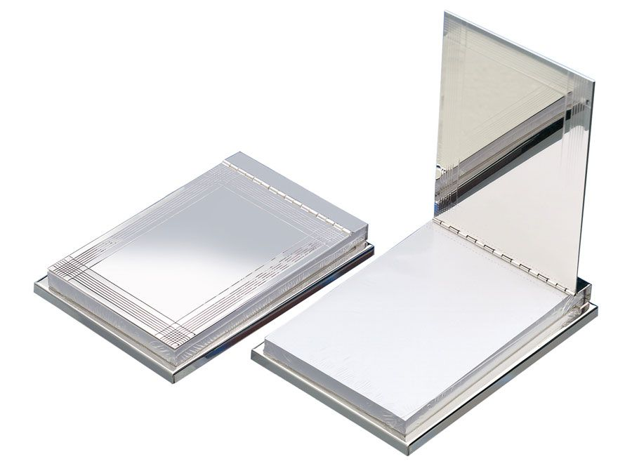 Silver Plated Luxury Desk Memo Note Pad - Engraved FREE