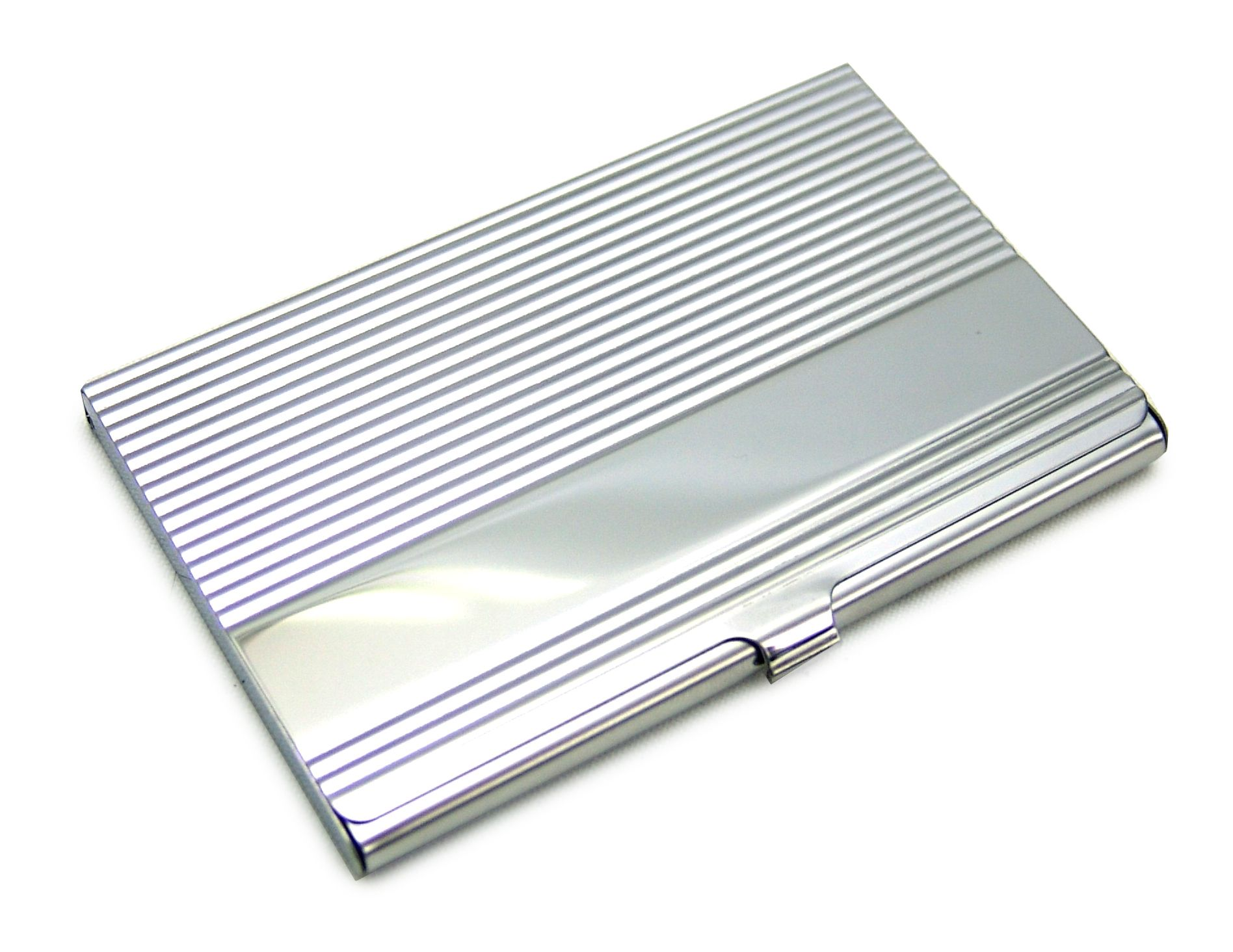 Steel ridged credit business card holder engraved free reheart Gallery