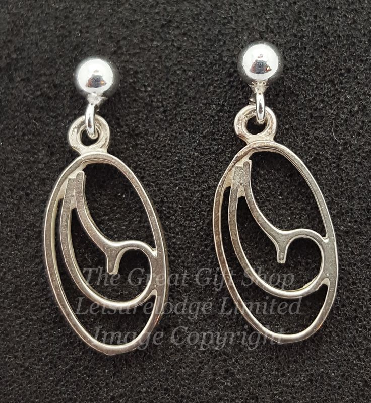Sterling Silver Scroll Drop Earrings UK Made
