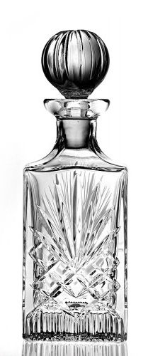 Zawiercie Majestic Hand Cut Whisky and Spirits Decanter 75cl - 24% Lead Crystal Glass